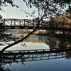 The Footbridge at Sunrise by Betty Maxey
