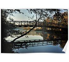 The Footbridge at Sunrise Poster