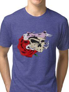 Ribbon Skull Tri-blend T-Shirt