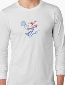 Snowman on the Slopes Long Sleeve T-Shirt