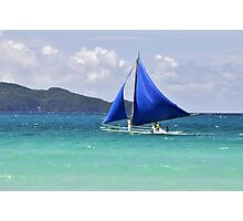 Blue Sails at Boracay Photographic Print