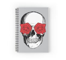 Skull & Roses | Grey & Red Spiral Notebook