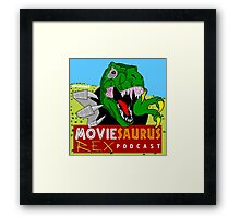 The Moviesaurus Rex Podcast Cover Art Framed Print