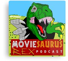 The Moviesaurus Rex Podcast Cover Art Metal Print