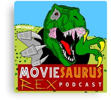 The Moviesaurus Rex Podcast Cover Art Canvas Print