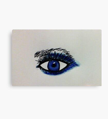 Sexy eye, watercolor Canvas Print