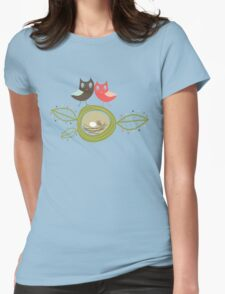 Whimsical Nesting Owl Family T-Shirt