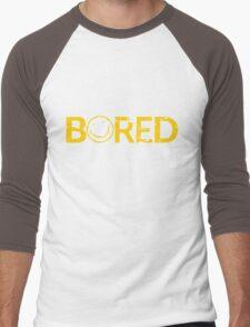 Sherlock Bored Smiley Print Men's Baseball ¾ T-Shirt