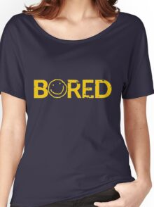 Sherlock Bored Smiley Print Women's Relaxed Fit T-Shirt