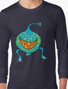 Mr. Blob Cartoon Green Monster Long Sleeve T-Shirt