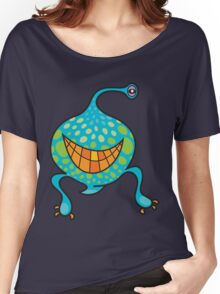 Mr. Blob Cartoon Green Monster Women's Relaxed Fit T-Shirt