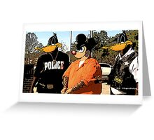 Mickey in a Hustler detention Street Art Greeting Card