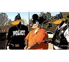 Mickey in a Hustler detention Street Art Photographic Print