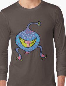Mrs. Blob Cartoon Blue Monster Long Sleeve T-Shirt