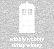 Wibbly Wobbly Timey Wimey Shirt (Dark Colors) One Piece - Long Sleeve