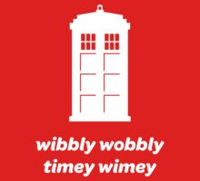 Wibbly Wobbly Timey Wimey Shirt (Dark Colors) Kids Clothes