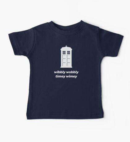 Wibbly Wobbly Timey Wimey Shirt (Dark Colors) Baby Tee