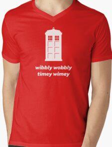 Wibbly Wobbly Timey Wimey Shirt (Dark Colors) Mens V-Neck T-Shirt
