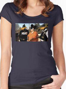 Mickey in a Hustler detention Street Art Women's Fitted Scoop T-Shirt