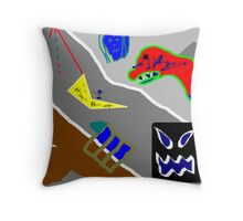 This work is called 'Collage' Throw Pillow