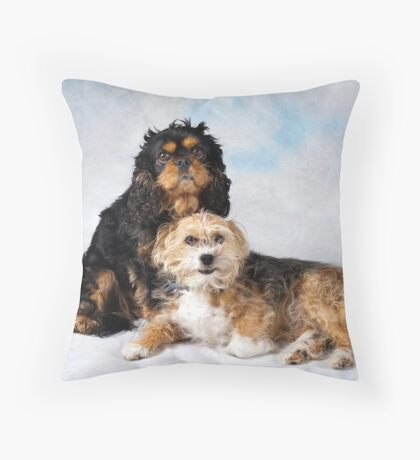 My pups! Throw Pillow