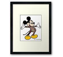 Mickey full body tattoo Street Art Framed Print