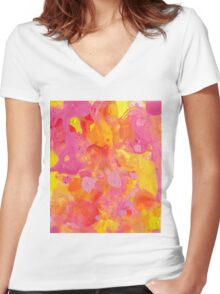 Abstract 48 Women's Fitted V-Neck T-Shirt
