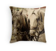 Horses Two Throw Pillow