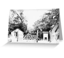 Private Gate House Greeting Card