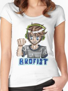 Pewdiepie- BROFIST! Women's Fitted Scoop T-Shirt