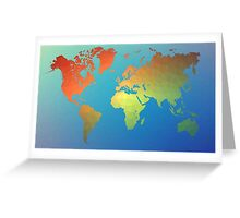 Poly Map Greeting Card