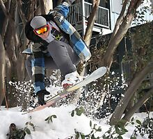 Custom X Board Grab, Falls Creek by DaveZ