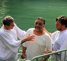 Baptised in the Jordan river #1 by Moshe Cohen
