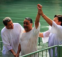 Baptised in the Jordan river #2 by Moshe Cohen