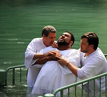 Baptised in the Jordan river #3 by Moshe Cohen