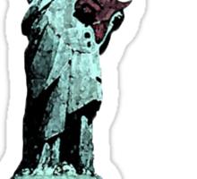 Miss Liberty Rocks Street Art Sticker