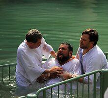 Baptised in the Jordan river #5 by Moshe Cohen