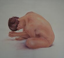 Nude model 3 by Jos van de venne