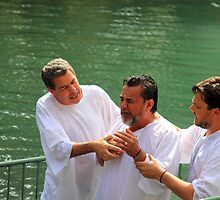 Baptised in the Jordan river #7 by Moshe Cohen