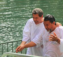 Baptised in the Jordan river #8 by Moshe Cohen