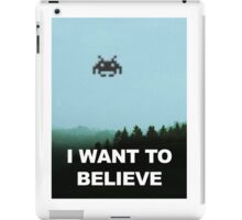 X-Invaders I want to Believe iPad Case/Skin