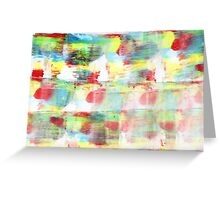 patchy rainbow Greeting Card
