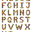 Alphabet in Lego by Addison