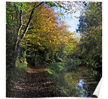 Monmouthshire and Brecon canal in Autumn. Poster