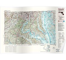 USGS Topo Map District of Columbia DC Washington 255916 1989 250000 Poster