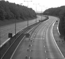An empty M62 by clydeypops
