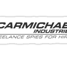 Carmichael Industries Text Only Inverse Logo Sticker