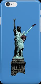 Miss Liberty Rocks Street Art by dashiner