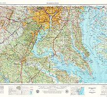 USGS Topo Map District of Columbia DC Washington 707671 1957 250000 by wetdryvac