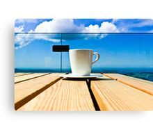 Coffee in the Sky Canvas Print